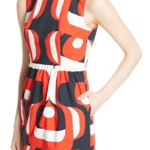 MILLY Miranda Geometric Stretch Cotton Mini Dress